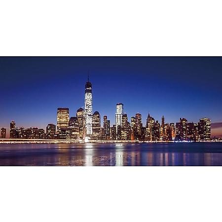 LED-Bild, Leinwandbild Wandbild Leuchtbild, Timer ~ 100x50cm One World Trade Center, flackernd - Bild 1