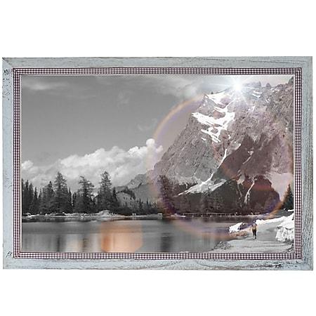 Bilderrahmen H248, Fotorahmen Holzrahmen Wand-Rahmen, 36x51cm Shabby-Look Landhaus ~ weiß - Bild 1