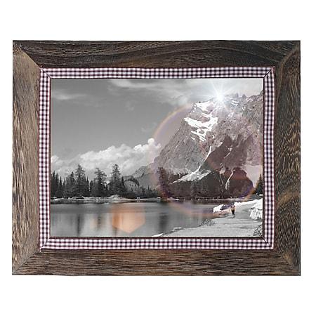 Bilderrahmen H246, Fotorahmen Wand-Rahmen, 21x26cm Holz Shabby-Look Landhaus ~ braun - Bild 1