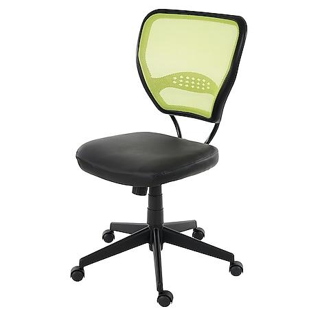 Profi-Bürostuhl Chicago, Chefsessel Drehstuhl, 150kg belastbar, Kunstleder ~ grün ohne Armlehnen - Bild 1