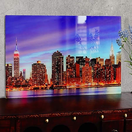 Glasbild T117, Wandbild Poster Motiv, 40x60cm ~ New York - Bild 1