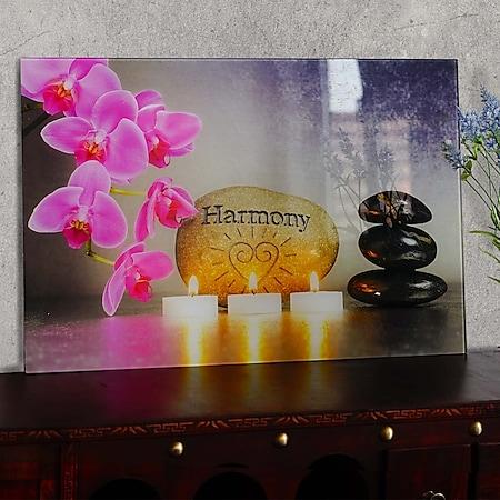 Glasbild T117, Wandbild Poster Motiv, 40x60cm ~ Harmony - Bild 1