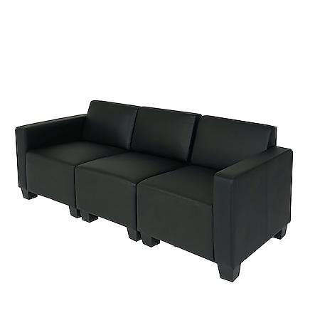 Modular 3-Sitzer Sofa Moncalieri ~ schwarz - Bild 1