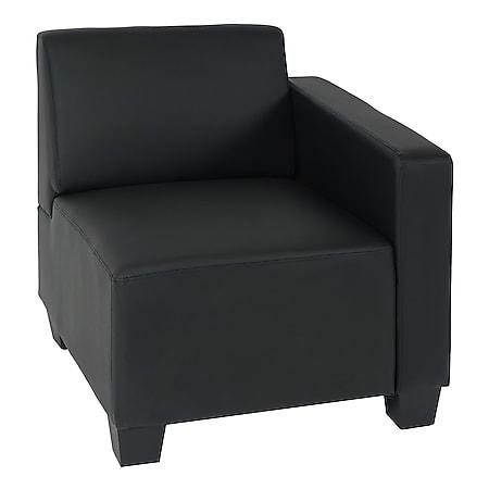 Modular Seitenteil rechts, Sessel mit Armlehne Moncalieri, Kunstleder ~ schwarz - Bild 1