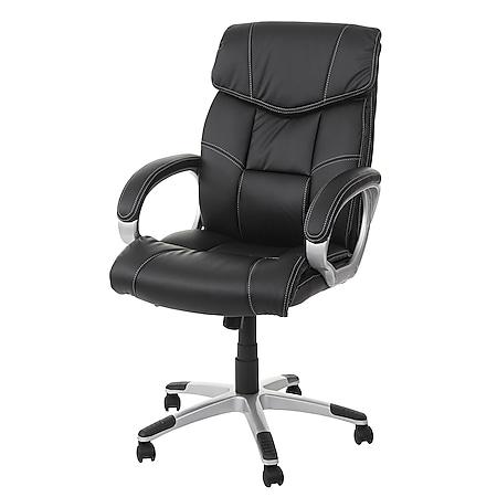Bürostuhl MCW-A71, Chefsessel Drehstuhl, Kunstleder ~ schwarz - Bild 1