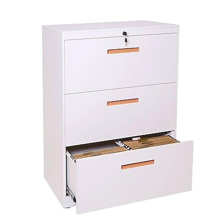Hängeregisterschrank MCW-A10, Aktenschrank Büroschrank Stahlschrank, A4 abschließbar ~ 103x76x46cm weiß - Bild 1