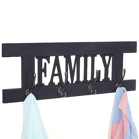 Wandgarderobe MCW-C60 Family, Garderobe Garderobenpaneel, Shabby-Look Vintage 60x21cm - Bild 1