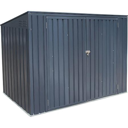 Metall Mülltonnenbox anthrazit, 235x100x131 cm - Bild 1
