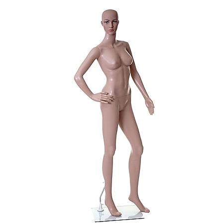 Schaufensterpuppe MCW-E37, weiblich Frau Schaufensterfigur Puppe Mannequin Schneiderpuppe, lebensgroß beweglich 175cm - Bild 1