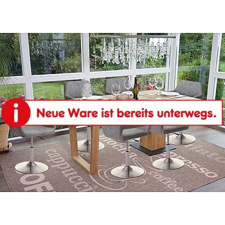 6x Esszimmerstuhl MCW-A50 III, Stuhl Küchenstuhl, Retro 50er Jahre, Stoff/Textil ~ vintage hellgrau, Fuß gebürstet - Bild 1