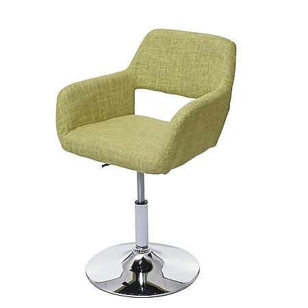 Esszimmerstuhl MCW-A50 III, Stuhl Küchenstuhl, Retro 50er Jahre, Stoff/Textil ~ hellgrün, Chromfuß - Bild 1