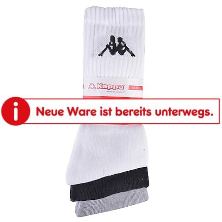 Kappa Sportsocken, 3er Pack - schwarz, weiß, grau, Gr. 43/46 - Bild 1