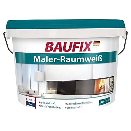 BAUFIX Maler-Raumweiß, 2,5 Liter - Bild 1