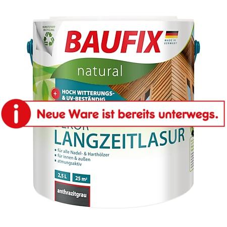 BAUFIX natural Dekor-Langzeitlasur anthrazitgrau, 2,5 Liter - Bild 1