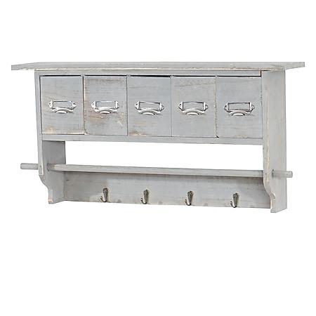 Küchenregal MCW-C49, Haushaltsregal Regal, Vintage mit 5 Schubladen 32x65x13cm ~ Shabby Look, grau - Bild 1