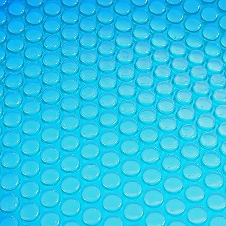 Pool-Abdeckung Wärmeplane Solarplane Abdeckplane Solarabdeckung, Stärke: 200 µm ~ rund 4,57m blau - Bild 1