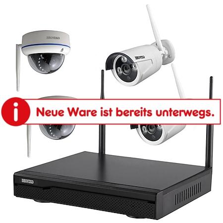 Inkovideo INKO-113M-D Komplettset 4-Kanal Netzwerkrekorder mit 2x Bullet und 2x Dome HD Überwachungskameras - Bild 1