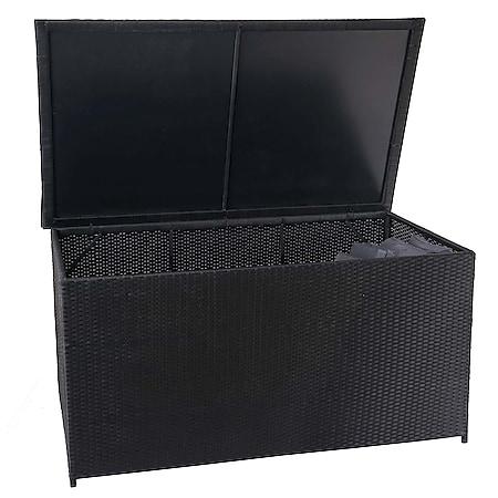 Poly-Rattan Kissenbox MCW-D88, Gartentruhe Auflagenbox Truhe ~ Basic schwarz, 80x160x94cm 950l - Bild 1