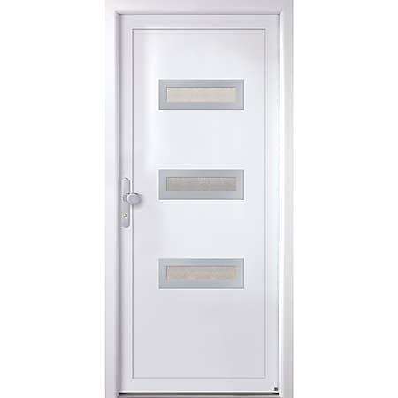 KM MEETH Kunststoff-Haustür Modell K366D weiß, DIN links - Bild 1