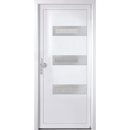 KM MEETH Kunststoff-Haustür Modell K367D weiß, DIN rechts - Bild 1