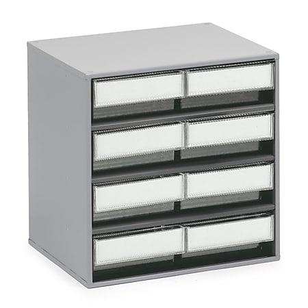 Treston 3020-1 Schubladenmagazin mit 8 Schubladen, glasklar - Bild 1
