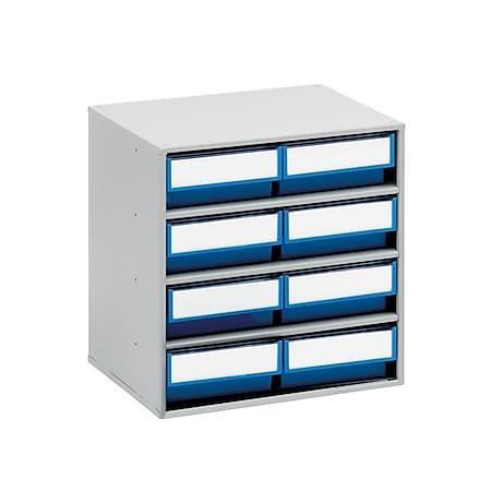 Treston 3020-6 Schubladenmagazin mit 8 Schubladen, blau - Bild 1