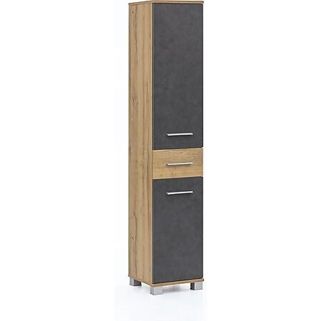 Seitenschrank mit 2 Türen und 1 Schublade Bad Kao - Bild 1