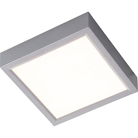 Nino Leuchten LED Deckenleuchte PUCCY, silberfarbig, viereckig, 17x17 cm - Bild 1