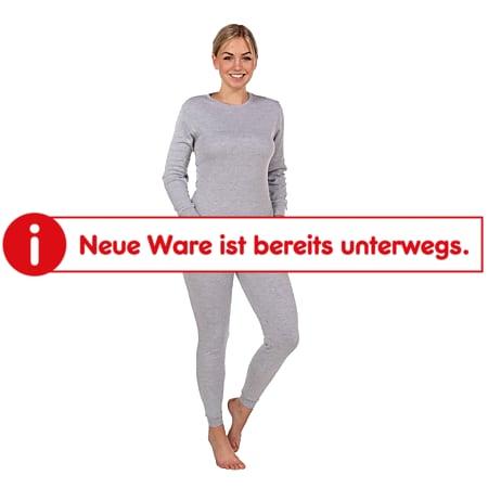 SoC Damen oder Herren Thermo Unterwäsche Set - Damen, grau melange, Gr. XL - Bild 1
