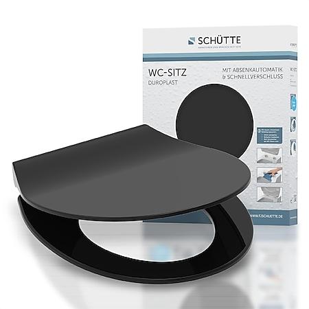 Schütte Duroplast WC-Sitz Slim Black - Bild 1