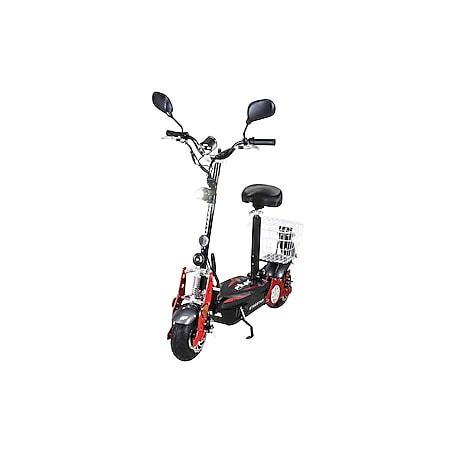 eFlux Street 40 800 Watt E-Scooter Elektroroller mit Korb und Straßenzulassung schwarz - Bild 1