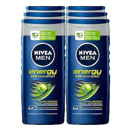 NIVEA MEN Energy Pflegedusche 250 ml, 6er Pack - Bild 1
