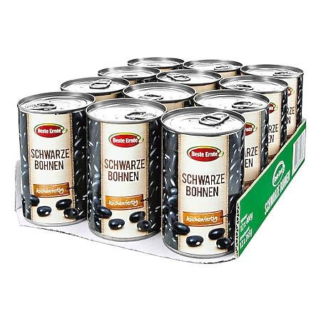 Beste Ernte Bohnen schwarz 265 g, 12er Pack - Bild 1