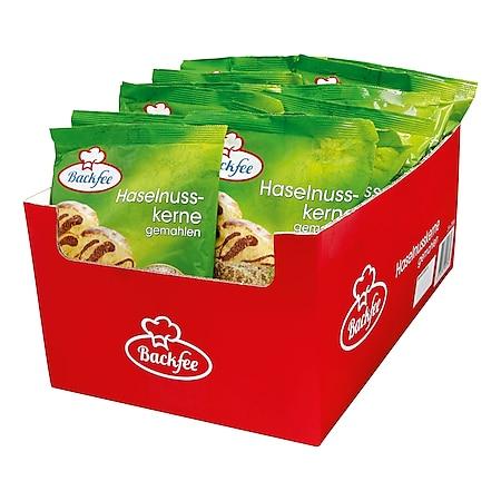 Backfee Haselnüsse gemahlen 200 g, 25er Pack - Bild 1