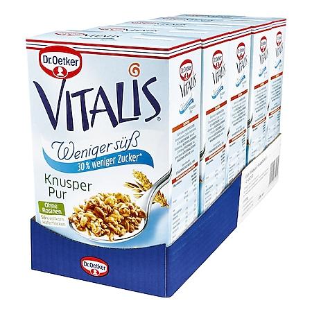 Dr. Oetker Vitalis Weniger süß Knusper Pur 600 g, 5er Pack - Bild 1