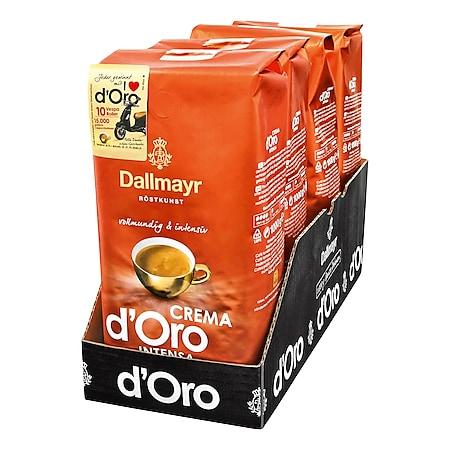 Dallmayr Crema d'Oro Intensa ganze Kaffeebohnen 1 kg, 4er Pack - Bild 1