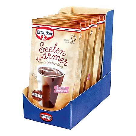 Dr. Oetker Seelenwärmer Pudding Schoko für 150 ml Wasser, 10er Pack - Bild 1