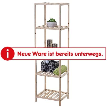 Badregal MCW-B54, Badezimmer Badschrank Standregal, Tannenholz 5 Ablageflächen 130x35x30cm - Bild 1
