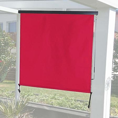 Vertikalmarkise MCW-F42, Senkrechtmarkise Sichtschutz Außenrollo Rollo, UV-Schutz 50 Stoff ~ 250x180cm, bordeaux-rot - Bild 1