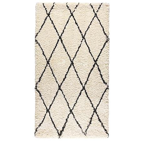 Teppich cremefarben 80 x 150 cm - Bild 1