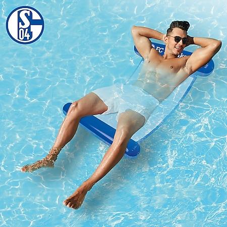FC Schalke 04 Wasserhängematte mit Tragefunktion 119cm blau - Bild 1