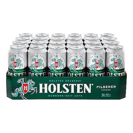 Holsten Pilsener 4,8 % vol 0,5 Liter Dose, 24er Pack - Bild 1