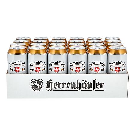 Herrenhaeuser Premium Pilsener 4,9 % vol 0,5 Liter Dose, 24er Pack - Bild 1