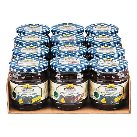 Mühlhäuser Thüringer Pflaumenmus 450 g, verschiedene Sorten, 12er Pack - Bild 1