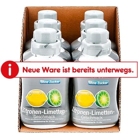 Sodastream Sirup Zitrone-Limette ohne Zucker 0,5 Liter, 6er Pack - Bild 1