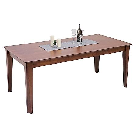 Esstisch MCW-G64, Esszimmertisch Küchentisch Holztisch Tisch, rechteckig Massiv-Holz ~ 180x90cm - Bild 1