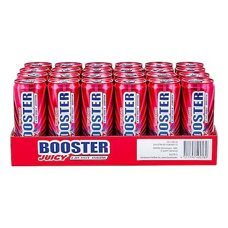 Booster Energy Drink Juicy 0,33 Liter Dose, 24er Pack - Bild 1