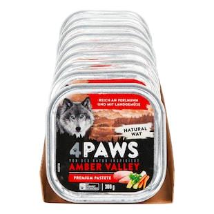 Bild für 4 PAWS Hundenahrung Perlhuhn Gemüse 300 g, 9er Pack