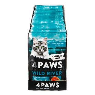 Bild für 4 PAWS Katzennahrung Wildlachs Dill 85 g, 24er Pack