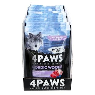 Bild für 4 PAWS Hundesnack Rentier, Kalb, Huhn 100 g, 12er Pack
